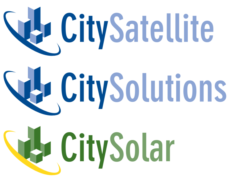City Satellite and Derivative Logos