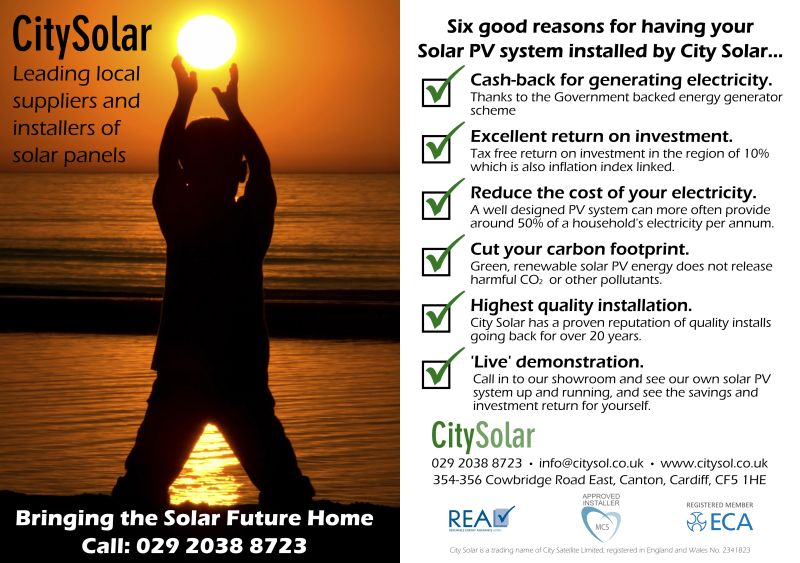 Solar PV Leaflet - Front and Back